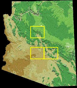 Arizona and locations of The Valley of the Sun, the Superstition Mountains, and Sedona and the Verde Valley.