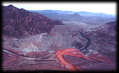 Turquoise is mined as a by-product at large copper mines like this one near Clifton, Arizona.