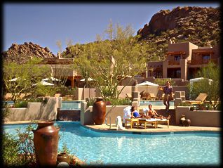 At the luxurious Four Seasons Resort, in Scottsdale, Arizona.