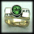 Arizona Peridot and Diamond Ring