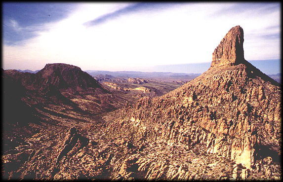 Weaver's Needle, from the popular Peralta Trail, in the Superstition Mtns of Central Arizona.