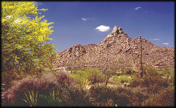 Pinnacle Peak, near the Four Seasons Resort, in north Scottsdale, Arizona, presents a spectacular view.
