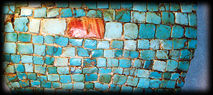 Ancient turquoise tesserae-style jewelry, from Arizona.