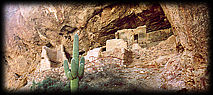 Tonto Cliff Dwellings are built into the Dripping Springs Quartzite.